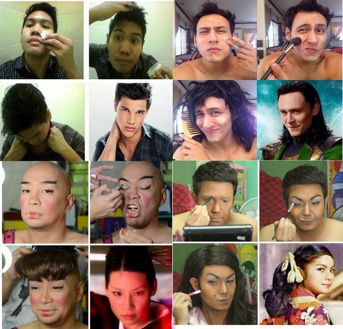 Makeup Transformations - Jonathan Yabut, Bodie Cruz, Wally Bayola and Paolo Ballesteros