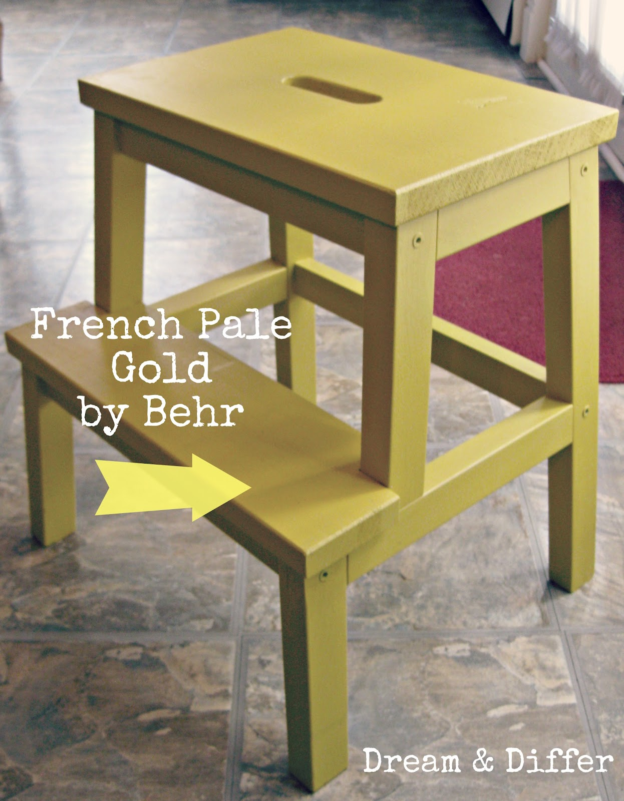 dream and differ step up the cute diy ikea stool makeover