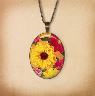 Digital Photo template for oval pendant on vintage background