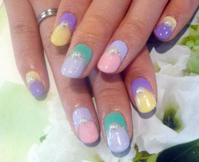 Дизайн нарощенных ногтей на типсах