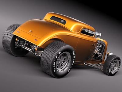 Hot Rod Amarelo