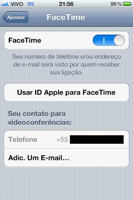 FaceTime - Ajustes