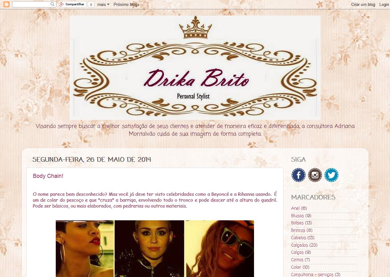 Blog - DRIKA BRITO