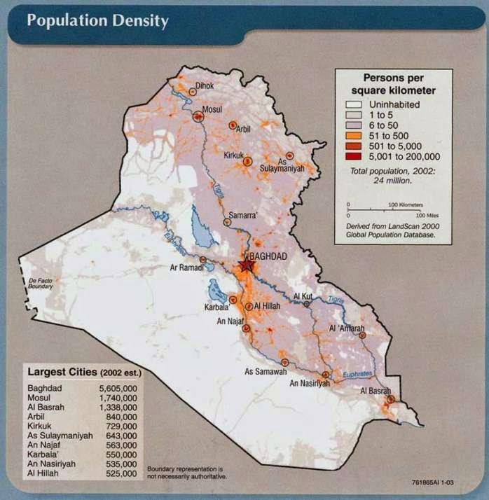 Iraq population map