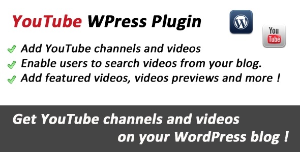 YouTube Videos Integration WordPress Plugin Free Download by CodeCanyon.