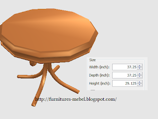 furniture meja makan bundar