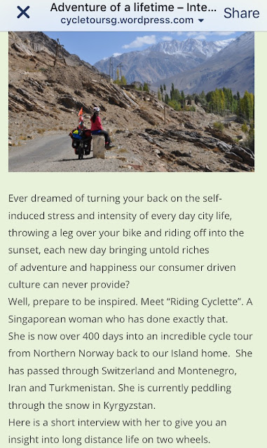 https://cycletoursg.wordpress.com/2015/11/14/adventure-of-a-lifetime-interviews-with-singapore-cycle-tourists/