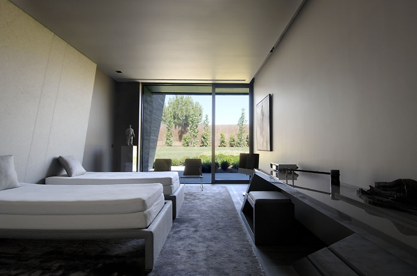 Second bedroom in Ultra Modern Concrete House by A-cero Architects