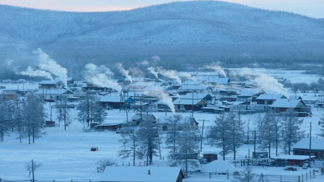 Oymkyakon, RussiaWith sub zero temperatures for 7 months out of the year, this town of 400 people suffers long and brutally cold winters.
