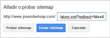apariencia del sitemap antes de enviar