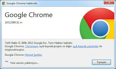 Google Chrome 19 Güncelleme