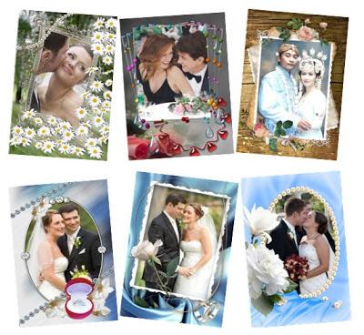 koleksi frame foto pernikahan