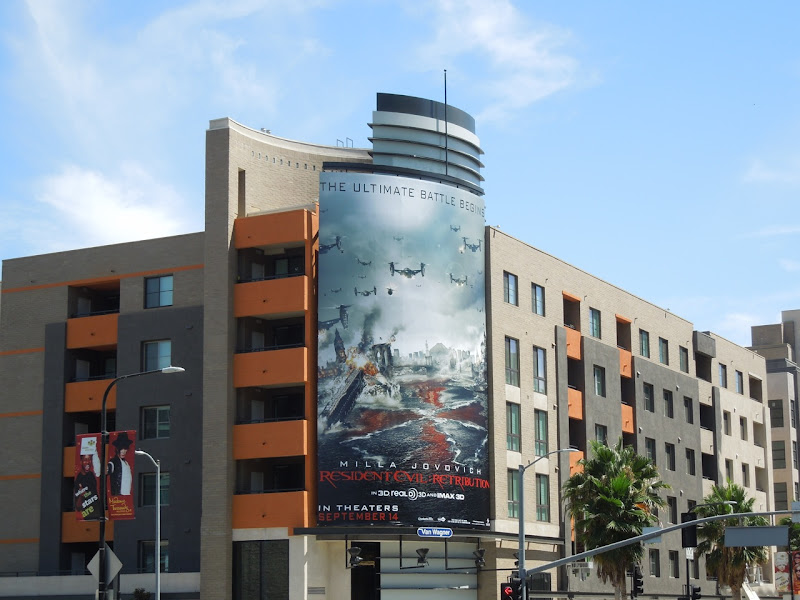Resident Evil Retribution billboard