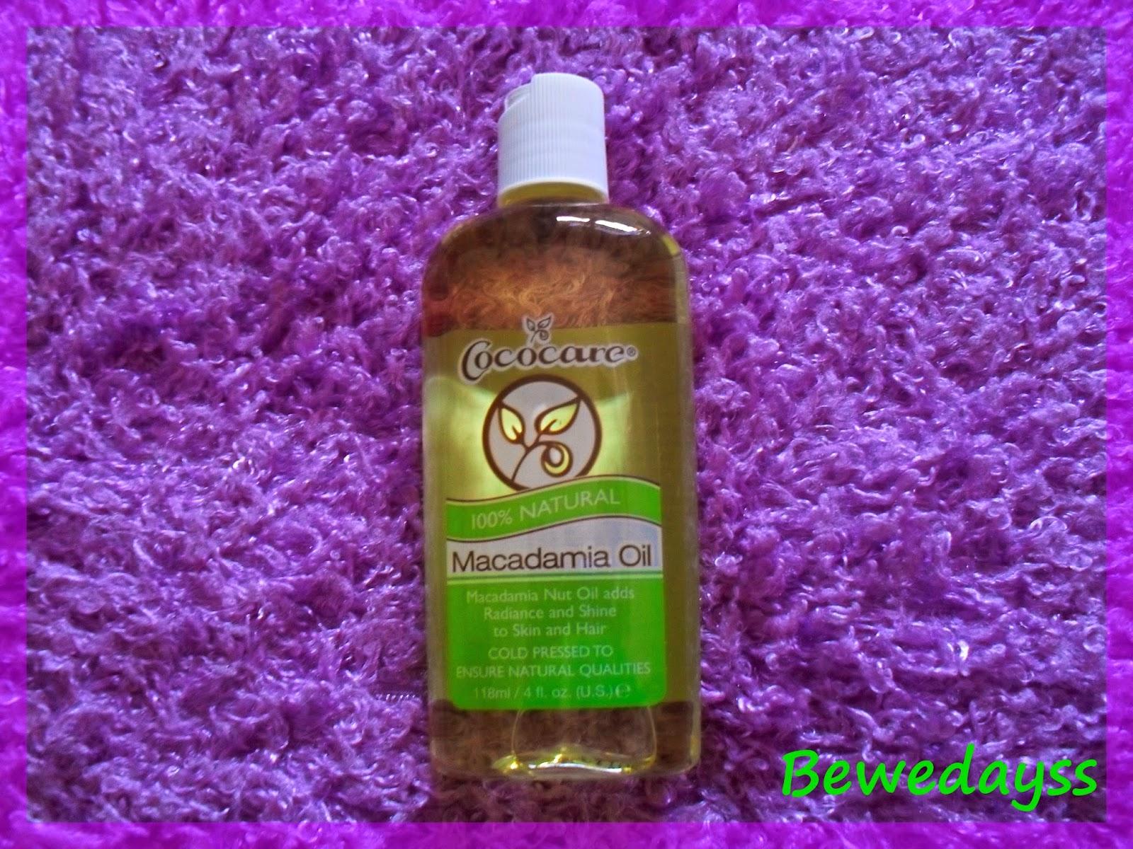 Cococare, Macadamia Oil
