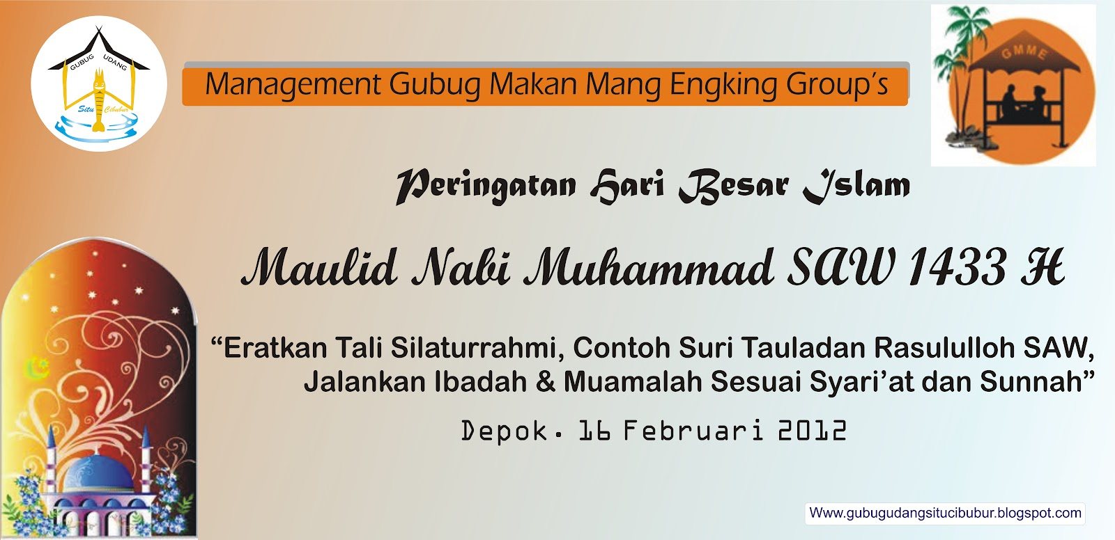 Design Backdrop Maulid Nabi Muhammad Saw | Auto Design Tech