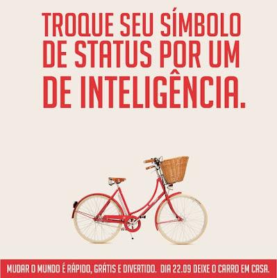 22 de setembro Dia Mundial Sem Carro - bicicleta