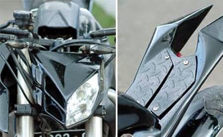 Modifikasi Honda MegaPro ala Moge