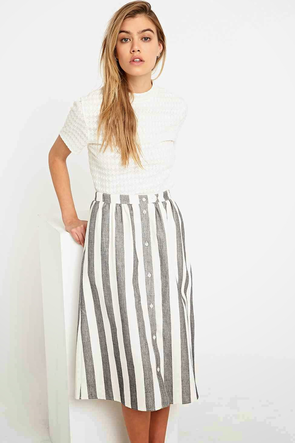 cooperative striped skirt, urban outfitters stripe skirt,