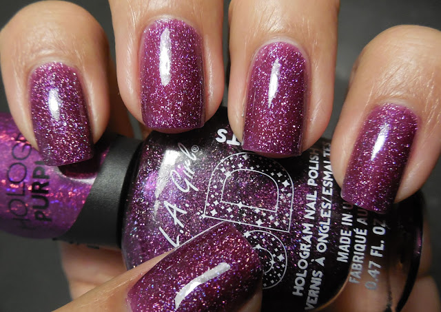 L.A. Girls 3D Holographic Purple Effect
