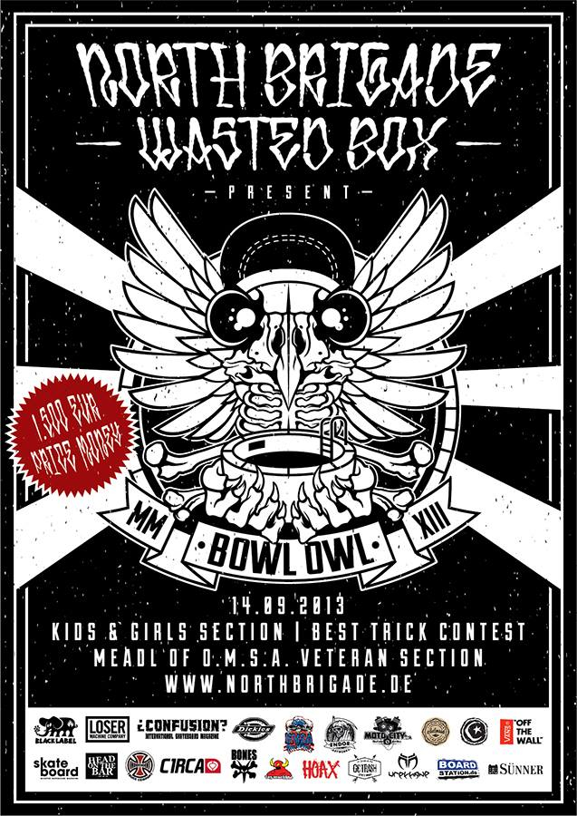 BOWL OWL III, NORTHBRIGADE SKATEPARK, COLOGNE, WASTED BOX SKATESHOP
