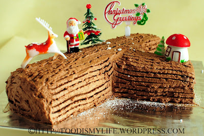 Merry Christmas – Chocolate Log Cake