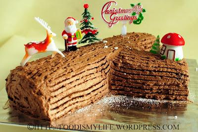 Merry Christmas – Chocolate Log Cake