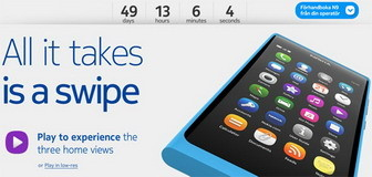 Nokia Sweden : N9 countdown timer page