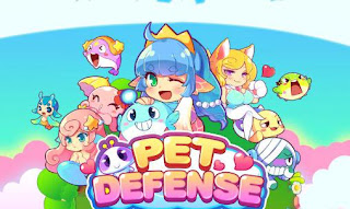 Screenshots of the Pet defense Saga for Android tablet, phone.