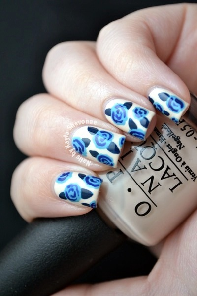 Nails By Kayla Shevonne Blue Roses Opi Euro Centrale Nail Art