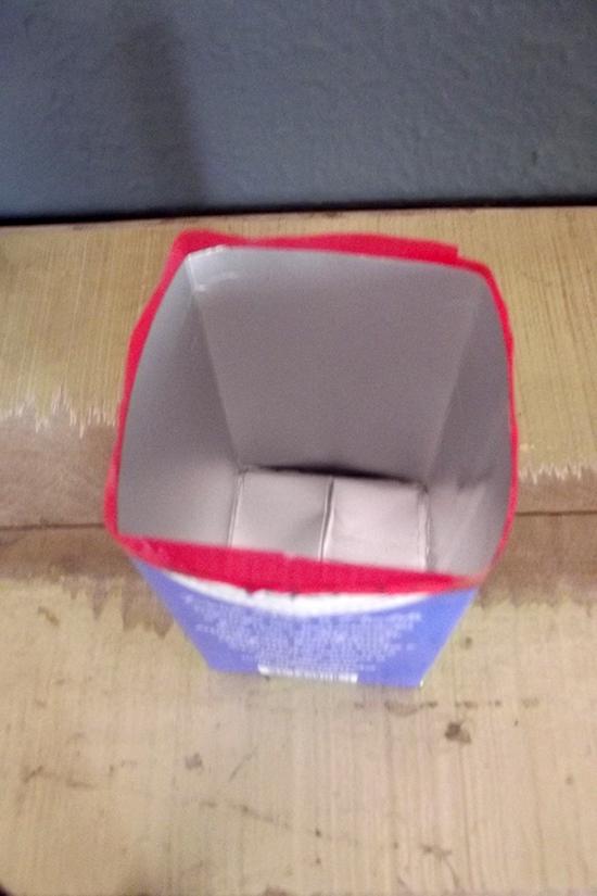 vaso com embalagem reciclada, reciclar, upcycling, recycle, vase, planta, vaso