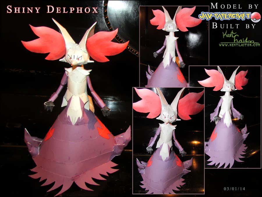Pokemon Delphox Papercraft