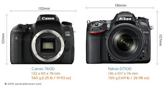 Canon vs Nikon, Canon DSLR, Nikon DSLR, professional photographer, Canon EOS 760D vs Nikon D7100, New DSLR camera, camera review