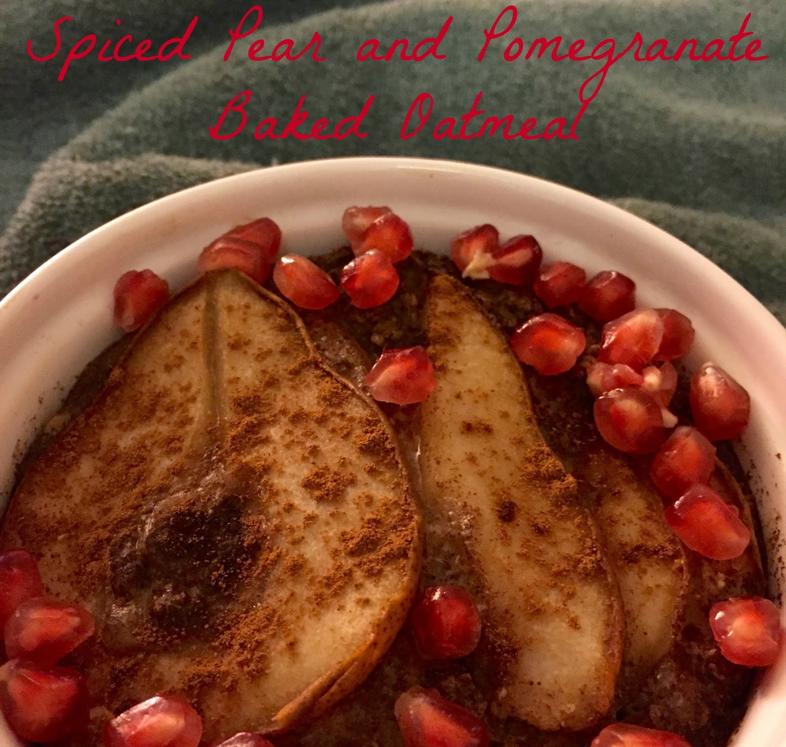 The Simple Life: Spiced Pear and Pomegranate Baked Oatmeal