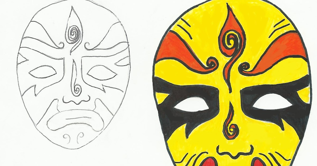 Chinese Opera Masks | Art Class Ideas