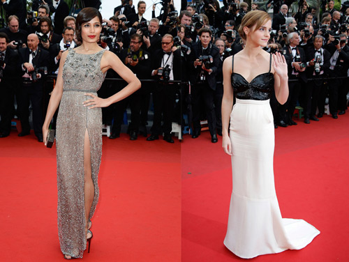 Freida Pinto in Sanchita and Emma Watson in Chanel
