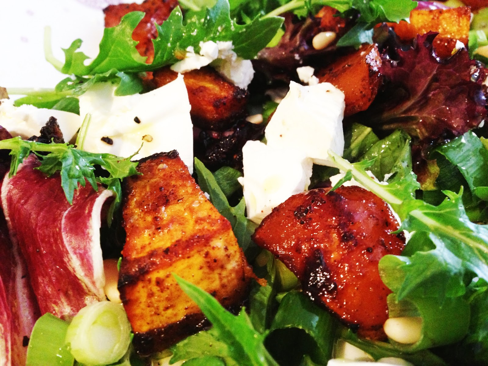 Cookie's Kitchen: Honey Spiced Roasted Pumpkin and Fetta Salad