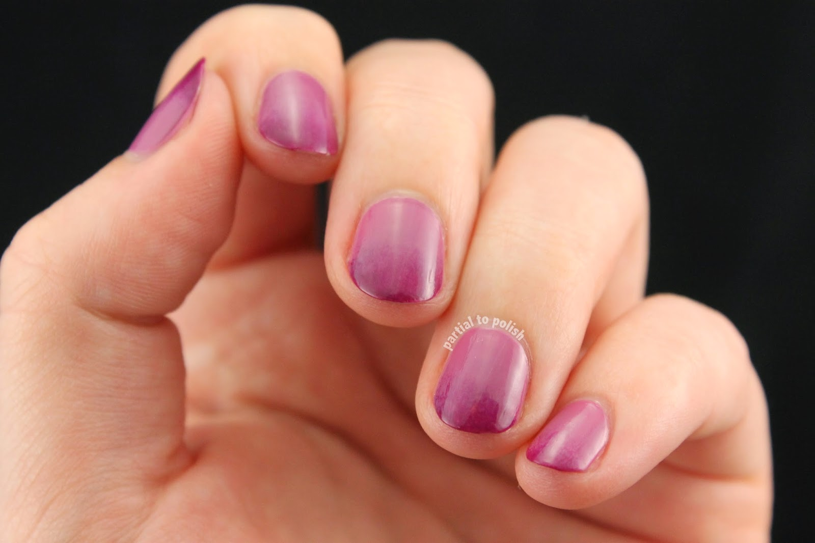 Purple Gradient Nails Topped with Simple Grey Lines Featuring Sonia Kashuk Nail Polish