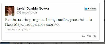twiter de Javier Garrido Novoa