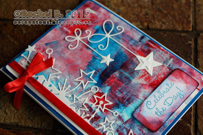 Patriotic Handmade card Memory Box