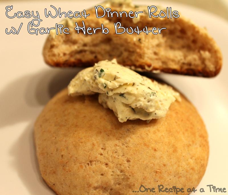 Download Quick & Easy Wheat Dinner Rolls w/ Garlic Herb Butter