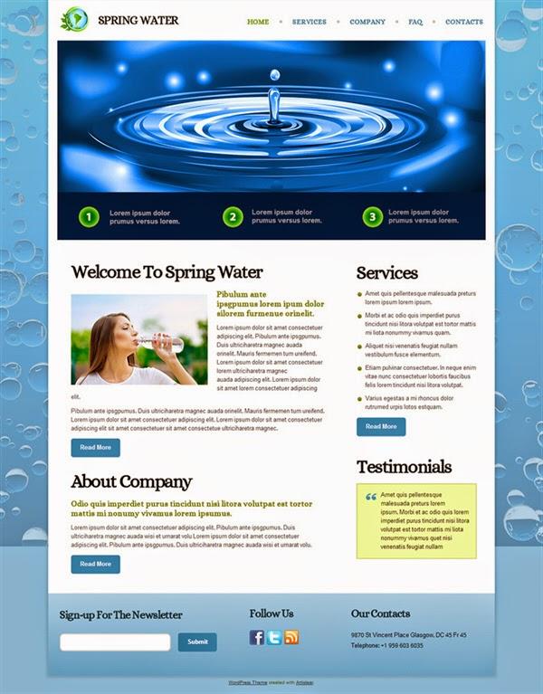 Spring Water - Free Wordpress Theme