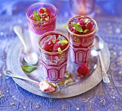 Rose cream & raspberry jellies recipe