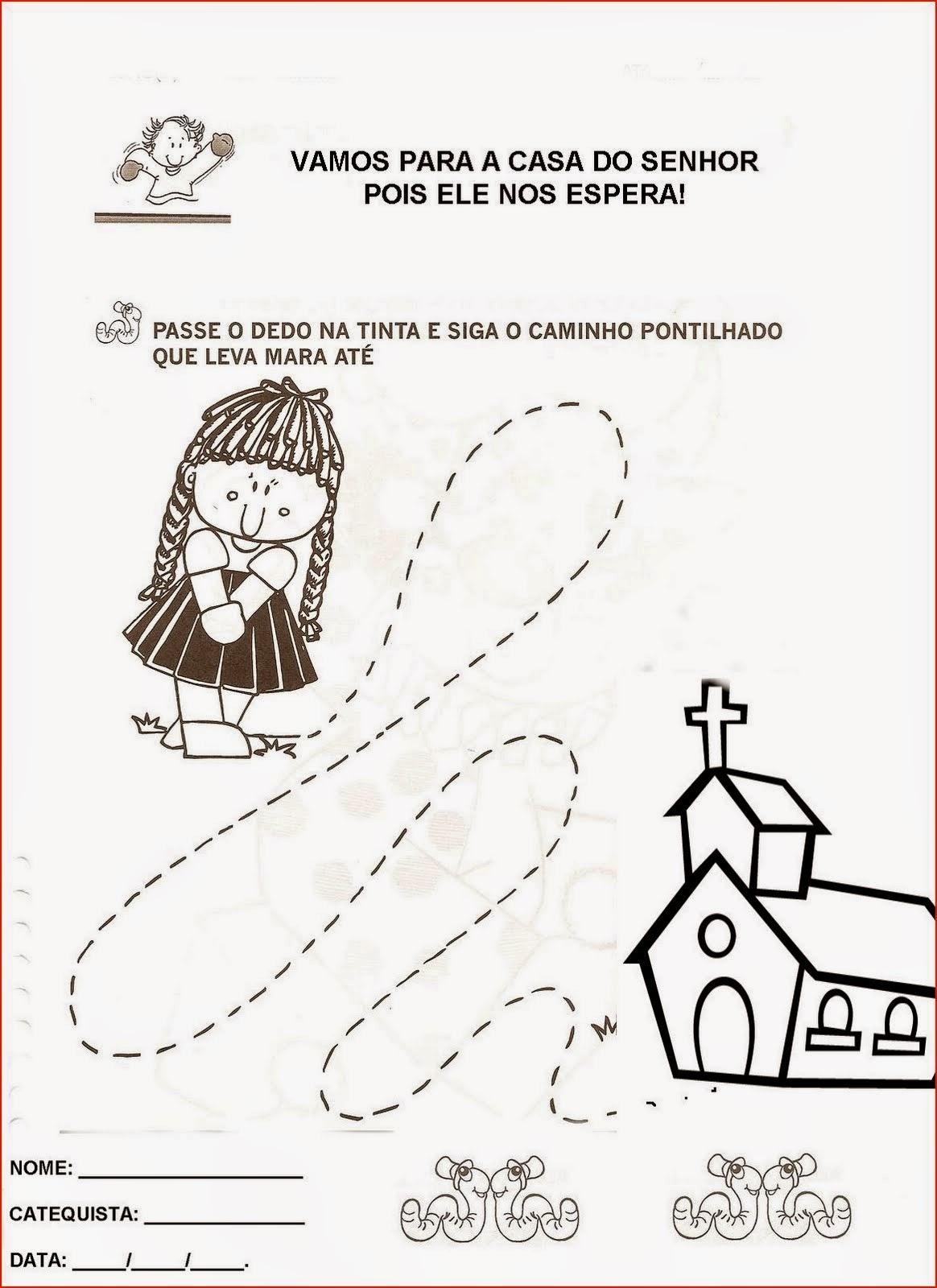 Populares Blog da Catequista Lucimar: Atividades sobre a criação e outras NF58