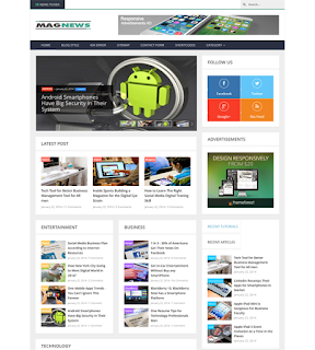 MagNews Blogger Template Free