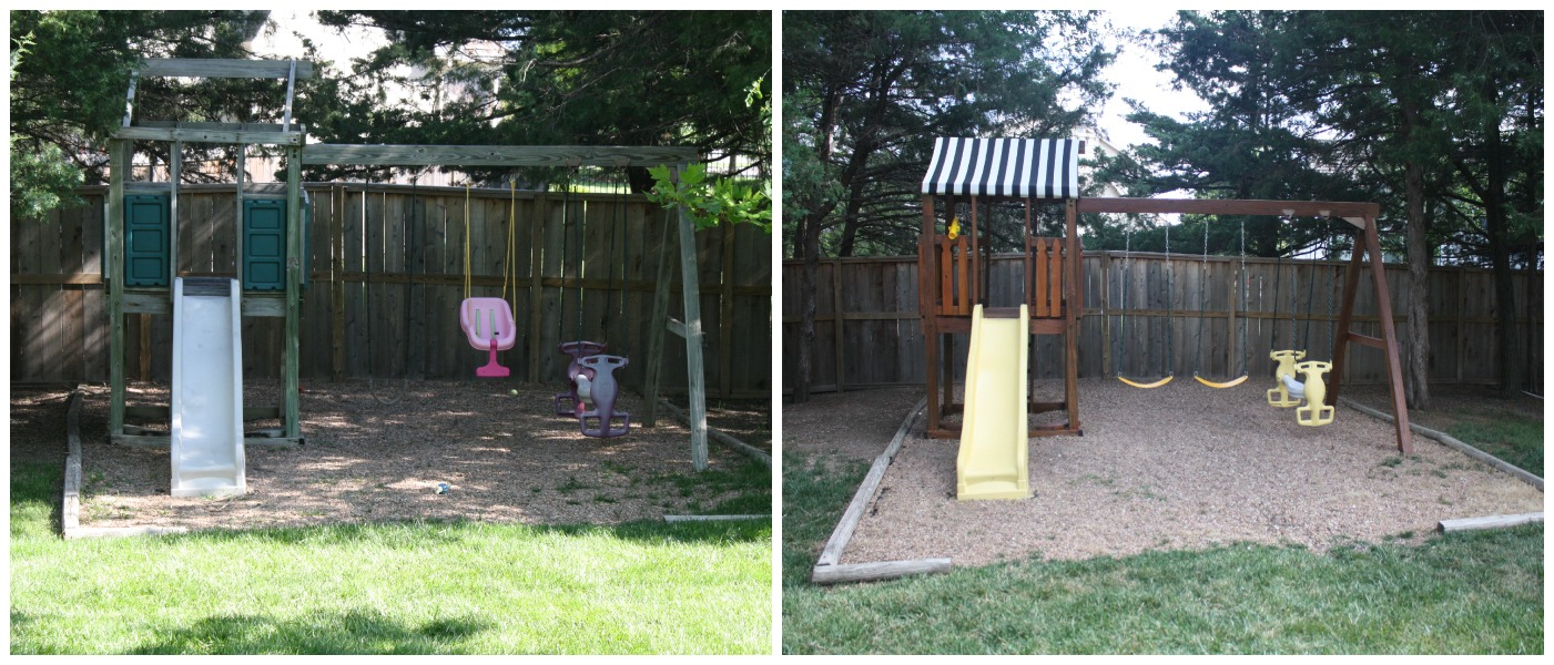 playset makeover crazy wonderful