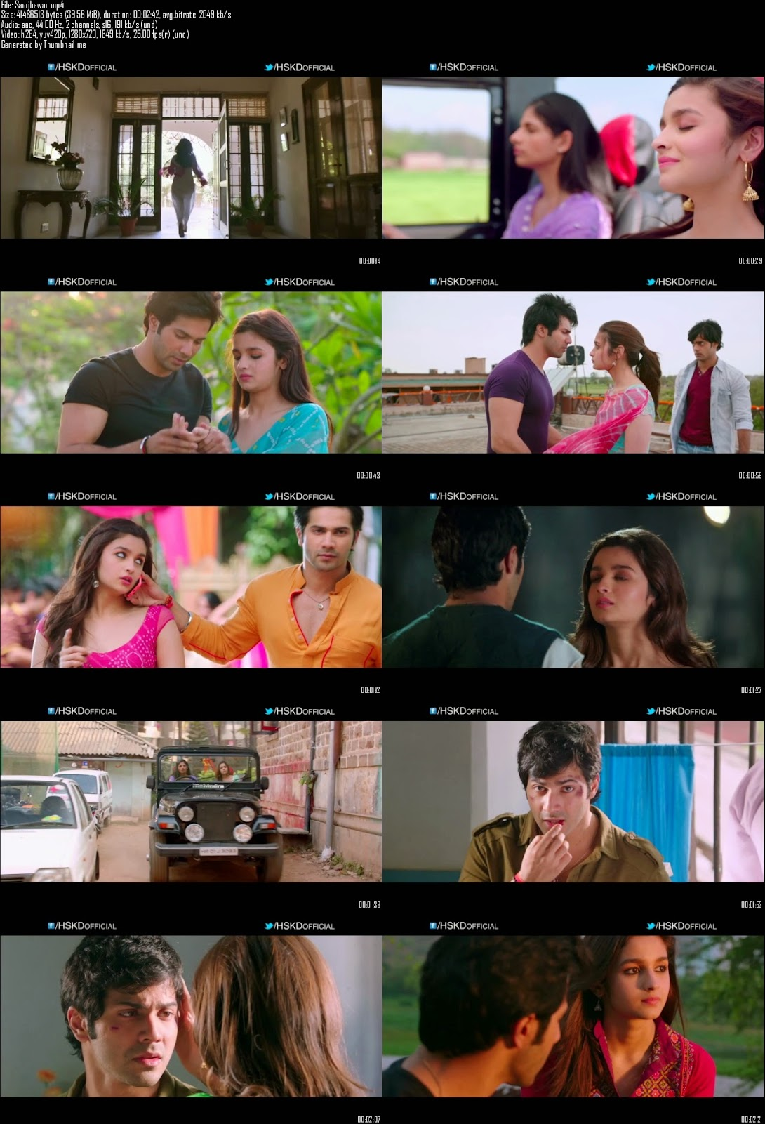 Mediafire Resumable Download Link For Video Song Samjhawan - Humpty Sharma Ki Dulhania (2014)