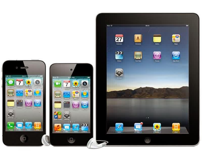 PERBEDAAN ANTARA TABLET, iPad DAN IPHONE