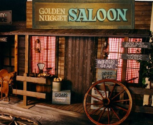 Vibrantly random what is random about saloon for Salon western