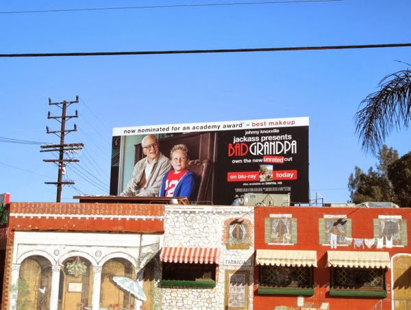 Bad Grandpa Oscar Bluray billboard