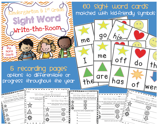 http://www.teacherspayteachers.com/Product/Kindergarten-and-1st-Grade-Sight-Word-Write-the-Room-1012356